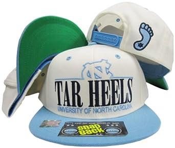 North Carolina Tar Heels White Light Blue Two Tone Plastic Snapback Adjustable... by Top of the World