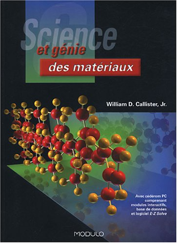 science et genie des materiaux william d callister pdf