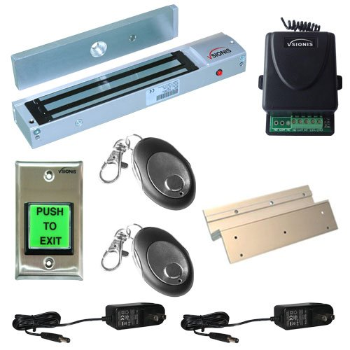 FPC-5013-VS One door Access Control Inswinging door 600lbs Electromagnetic lock kit with Vsionis wireless receiver and remote kit