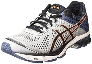 ASICS Gt-1000 4, Men's Running Shoes, Grey (Silver Grey/Black/Hot Orange 9690), 10 UK