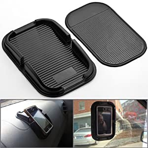 zolink Black Car Accessory Rubber Sticky Pad Dash Mount Holder for Samsung S5/s4/s3/iphone 4/5/5s/5c/6 and Others Cell Phone