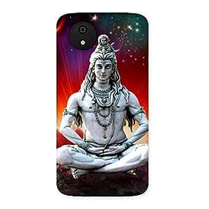 Enticing Shiva Yog Back Case Cover for Micromax Canvas A1