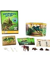 Coffret d'excavation Tricératops - Excavation de dinosaures - Découvre de véritables fossiles de dinosaures!