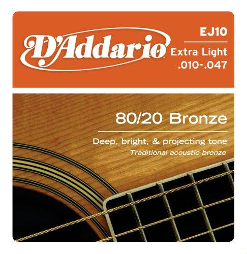 D'Addario EJ10 Bronze Acoustic Guitar Strings,