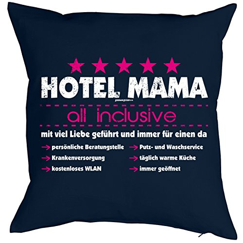bedrucktes lustiges fun sofa kissen hotel mama witziges. Black Bedroom Furniture Sets. Home Design Ideas