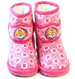 PORORO Kids FUR Warm Suede Boots Shoes for Girls Boys Ankle Pink US Size 11