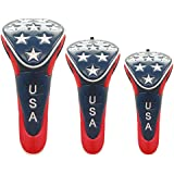 USA Stars Golf Headcovers Available in Driver, Fairway, Hybrid (Temporarily out of Fairway Size)