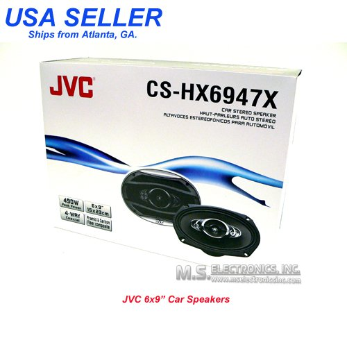 Jvc Cs-Hx6947X 6X9-Inch 4-Way Coaxial Speakers (Black)