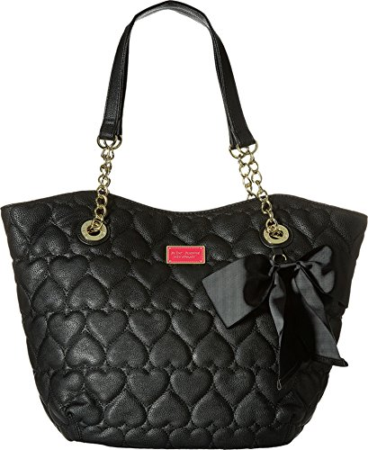 Betsey Johnson Women's Be Mine Dip Tote Black Tote