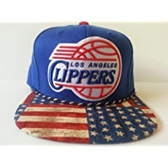 Mitchell and Ness NBA Los Angeles Clippers Custom Snapback Cap: Flag by Mitchell & Ness