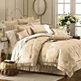 Waterford Dunloe Platinum Queen Comforter Set 4 Pc Picture