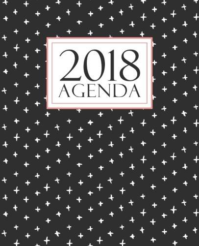 Agenda: 2018 Agenda semana vista español : 190 x 235 mm, 160 g/m² : Negro, blanco y coral (Calendarios, agendas y organizadores personales) (Volume 16)  [Papeterie Bleu] (Tapa Blanda)