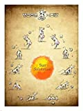 Yoga Cow Sun Salutation Art Print, Size 18 x 24 inches by Great Art Now [並行輸入品]