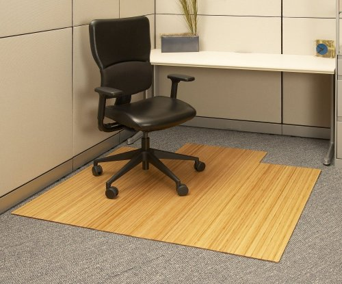 Wood Chair Mat Bamboo Roll Up In Natural AMB24008 Floor Mats