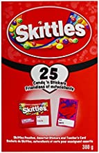 Skittles Valentines Day Exchange Kit with Stickers, 25-Count