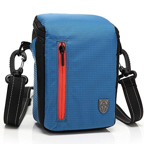 First2savvv BDV2503 blu qualità di lusso di nylon del cassa della macchina fotografica per CASIO EXILIM EX-H50 LEICA X2 D-LUX 6 D-LUX 5 X2 EDITION PAUL SMITH