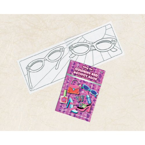 Glitzy Girl Coloring and Activity Book