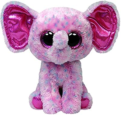 Ty Beanie Boos Ellie Pink Speckled Elephant Regular Plush by Ty Beanie Boos