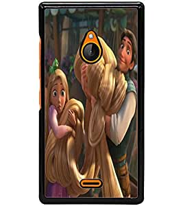 ColourCraft Cute Princess Design Back Case Cover for NOKIA XL