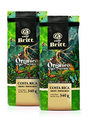 Cafe Britt Costa Rica Organic Bajo Sombra Whole Bean Coffee