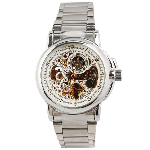 Yesurprise New Fashion Luxury Men Stainless Steel Automatic Mechanical Wrist Watch for Graduation Party Gift Trendy #3