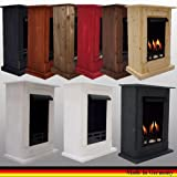 Gel + Ethanol Fireplace Madrid Deluxe - Choose from 9 colors (White)