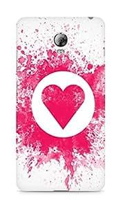 Amez designer printed 3d premium high quality back case cover for Lenovo Vibe P1 (splash paint heart)