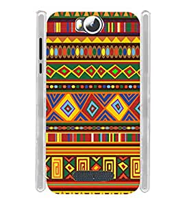 Tribal Rajastan Indian Soft Silicon Rubberized Back Case Cover for Micromax Canvas Spark 3 Q385