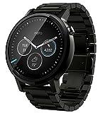 【第2世代】Moto 360 2nd Gen 2015 Smart Watch スマートウォッチ 腕時計 Android Wear iOS対応 (男性用 46mm ブラック) [並行輸入品]