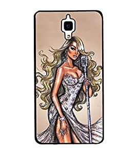 Girl with Shiny Dress 2D Hard Polycarbonate Designer Back Case Cover for Xiaomi Redmi Mi 4 :: Redmi Mi 4