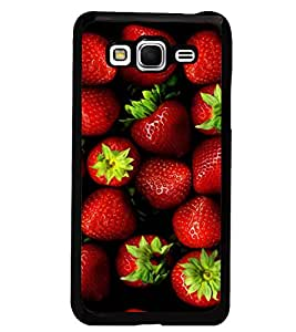PrintDhaba Strawberries D-4336 Back Case Cover for SAMSUNG GALAXY GRAND PRIME (Multi-Coloured)
