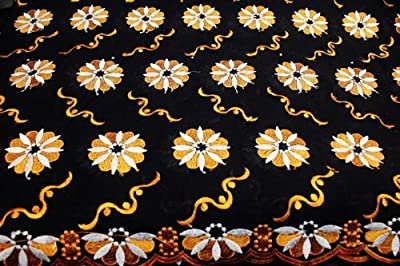 Black,african Embroidery Poly Cotton Voile Lace Textile, Poly Cotton in 10 Colors