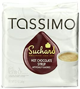 Suchard Hot Chocolate Syrup, 8-Count T-Discs for Tassimo Coffeemakers (Pack of 2)
