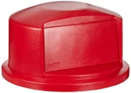 Rubbermaid Commercial FG263788RED Brute Round HDPE Dome Top, Red