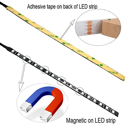 Autai Rgb Led Light Strip With Remote Control And Magnetic