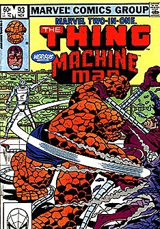 Marvel Two-In-One #93 The Thing VS Machine Man (Jocasta Marvel compare prices)