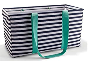 Thirty One Large Utility Tote Navy Wave 3121