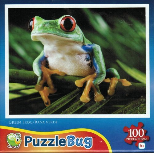 Puzzlebug 100 Piece Jigsaw Puzzle - Green Frog by LPF