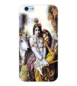 ColourCraft Lord Radha Krishan Design Back Case Cover for APPLE IPHONE 6