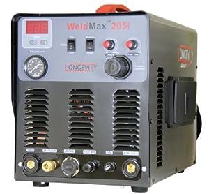 LONGEVITY Weldmax 205i 200 Amp DC Tig Stick Welder and 50 Amp Plasma Cutter from Longevity Global