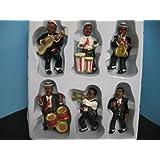 6 pc magnet set Jazz music bar kitchen Figurine