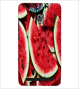 PrintDhaba WaterMelon D-3437 Back Case Cover for ASUS ZENFONE 6 A601CG (Multi-Coloured)