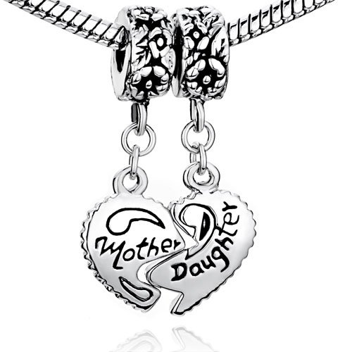 Pugster Heart Mother Daughter Love Family Charms Sale
