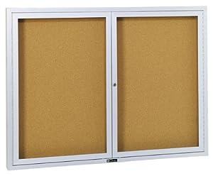 Claridge Revere Series Bulletin Board Cabinet with Nucork Panel, 3520BN