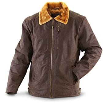 Guide Gear Distressed Leather Aviator Jacket by Guide Gear