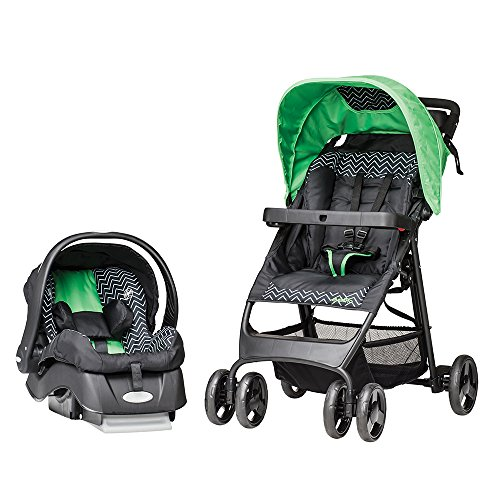 Evenflo Flexlite Travel System, Green Chevron