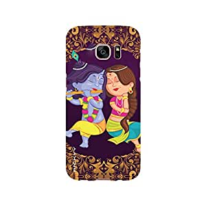 RICKYY _s7edge_1211 Printed Matte designer Image of Krishna and Radha case for Samsung S7 edge