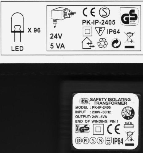 LED Lichterkette 96 LED 12m kalt weiß innen und aussen
