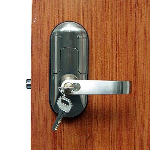 digi electronic biometric fingerprint keypad door lock set satin chrome right 98 by dhl my. Black Bedroom Furniture Sets. Home Design Ideas