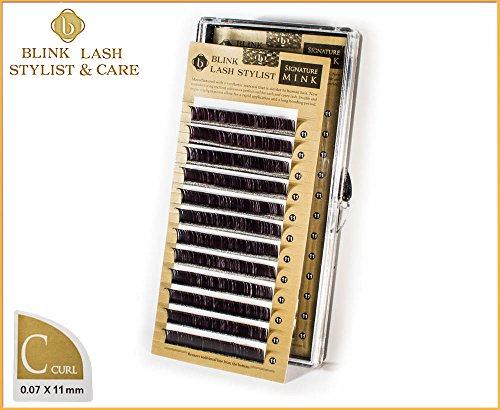 Blink Lash Stylist !!! ciglia di alta qualità per estensione del ciglio di 11 mm - C riccio - 0,07 mm con adesivo genuino !!!
